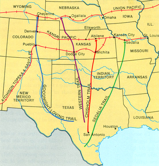 Contact Chisholm Trail - Chisholm trail map
